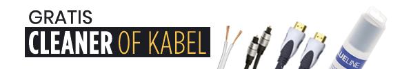 Gratis Cleaner of Kabel bij aankoop van uw TV of audio!