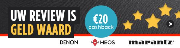 Uw review is geld waard €20 cashback