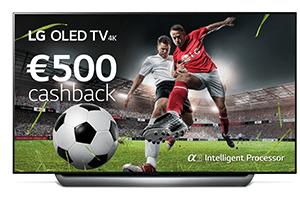 €500 Cashback LG OLED TV