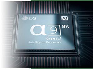 LG OLED88Z9 - A9 processor