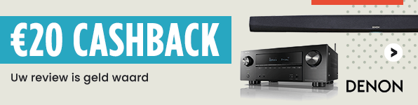 Denon Review Actie - €20 cashback na product review