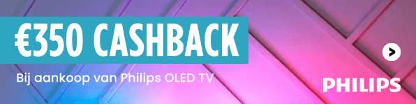 Philips tot €350 cashback op Philips OLED TV