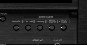 Denon X4700H - Quick Select knoppen