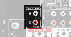 Denon X3700H - Phono-ingang