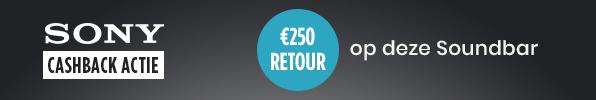 €250 retour op Sony Soundbar!