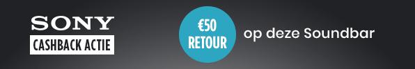 €50 retour op Sony Soundbar!