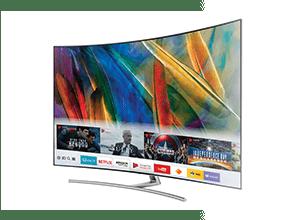 Samsung QE55Q8C - Curved TV Design