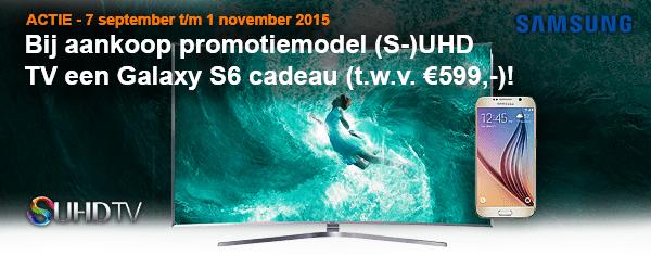 Samsung actie Bij aankoop (S )UHD TV een Galaxy S6 t.w.v.