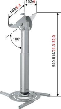 Vogels ppc 250 plafondbeugels plattetv uw specialist for Ppc eindhoven