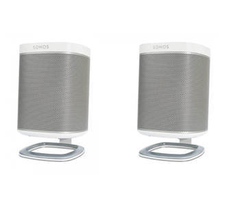 Flexson Bureau Standaard - Sonos Play:1 Wit (Set)
